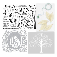 Hero Arts My Monthly Hero Kit MAY NEW stamps and dies Tree swing sillouette