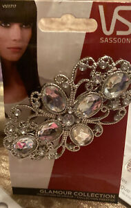 Vidal Sassoon Glamour Collection Hair Clip Gun Metal Bling Metal 3 Inch