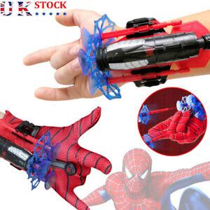 SpiderMan Web Shooter Dart Blaster Launcher Toy& FREE Spiderman Costume Glove UK