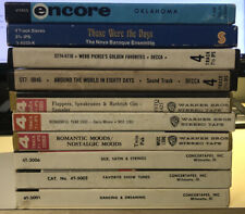 10 X Prerecorded Reel To Reel Tapes Lot Warner Brothers Decca Encore
