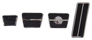 "GM, Chevy & Pontiac ""DISC"" Brake, Clutch & Gas Pedal Pad Set W/ Stainless Trim"