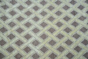 Vintage BTY Yard Woven Diamond Fabric Chenille Upholstery