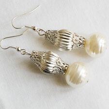 Orecchini donna con perle e filigrane argento Gioielli Artigianali Fia Jewels