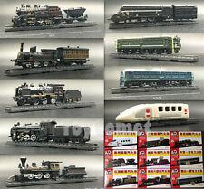9 pcs Mini Train Engine Ho Scale 1:200 4D Assembly Plastic Models DIY Toys Set