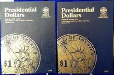 Whitman Presidential Dollars Volumes 1 & 2 2007-2017 Coin Folders, Albums Books