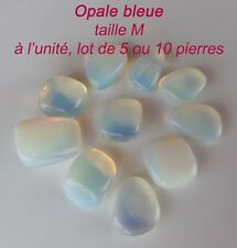 PIERRE POLIE OPALE BLEUE LOT 1  5  10 PIERRES TAILLE S - LITHOTHERAPIE OPALINE