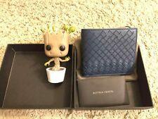 Brand New Bottega Veneta Men Intercciaco Woven Bifold Wallet, Slate