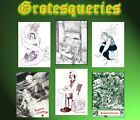 DEAD SANTA & Other Eccentric Halloweenies 6 5x7 card set signed by RX Set NEW