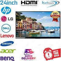 "Cheap 24"" TFT PC Computer HDMI Monitor LCD Display Flat Screen Dell HP Acer FHD"