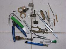 Lot d'outils Horloger Watchmakers tools Uhrmacherwerkzeug Orologiaio Reloj NR