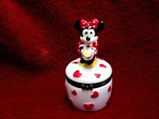 Phb Disney Minnie Mouse Holding Bouquet Of Flowers Trinket Box