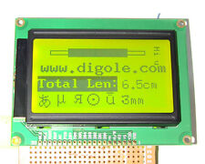 Serial/Parallel 128x64 Dots Graphic LCD Display for Arduino/AVR/PIC Blk/Ylogrn