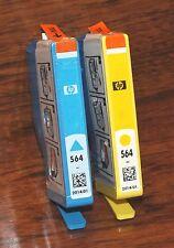 Genuine HP 564 Cyan & Yellow Ink Cartridges (CD994FN) (300 Pg. Yield) *EXPIRED*