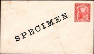 BAHAMAS, 1901. Envelope H&G B6, Specimen