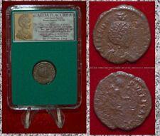 Antiguo Imperio Romano Moneda Aelia Flacilla Victoria escribir chi-ro en reverso