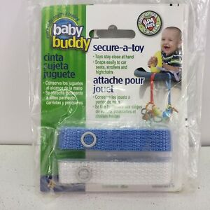 New Baby Buddy Secure-A-Toy - Straps Toys, Teether, Pacifiers To Strollers, Car