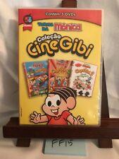 Turma da Monica: COLECAO CINE GIBI 3 DVD Set! (1, 2, 3) PORTUGUESE IMPORT! Reg 4