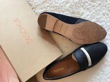 Ladies Slip on Tashka Leather shoes Navy size 5 BN in Box