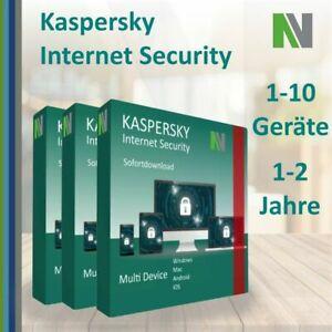 Kaspersky Internet Security MD 2021 1-10 Geräte 1-2 Jahre   Voucher CODE