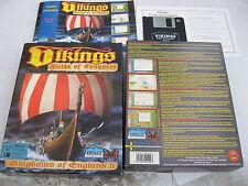 """PC Vikingos por Krisalis en caja con manual de segunda mano dos 3 1/2"""" HD disquete."""