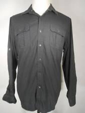 Beautiful Men's Large Rock & Republic Black Long Sleeve Button Shirt GUC
