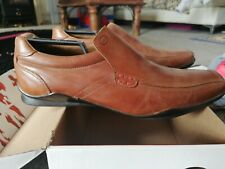 BASE LONDON brown Leather Designer shoes Wheels men's Size 9 Tan