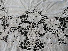 Beautiful Antique Vintage White Lace Tablecloth Grapes Cotton & So Ornate