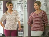 "King Cole Popsicle Knitting Pattern: Ladies Sweaters, Aran, 34-44"", 3890"