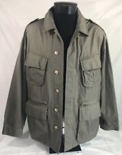 Willis & Geiger Jacket Bush Poplin Safari Shooting Hunting Large Made USA Green