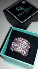 Coco Ribbon London diseñador cóctel anillo con diamante cristales UK Size K. En Caja