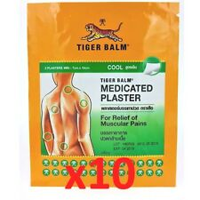 Lot of 10 (20 plasters) TIGER balm cool medicated plaster relief muscular pain