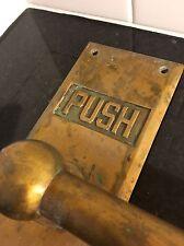 1920s-30s DECO brass TRIPLE DOOR PUSH BAR theatre MCM Sargent HANDLE towel Bar