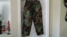 Military  Trousers Hot Weather Woodland Camo Combat Cargo Pants Large Short