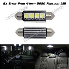 2) LED Car Bulb 42MM Festoon 4SMD Error Free Dome Map Interior Light White