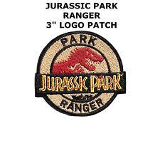 Jurassic Park Movie Park Ranger Logo Embroidered Patch, NEW UNUSED