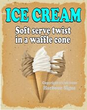 Ice Cream Soft Serve Waffle Cone Decal V Food Truck Concession Sticker Sticker