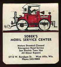 Vintage 1965 Sobek's Mobil Service Center West Allis Wisconsin Pocket Memo book