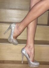 Carvela Kurt Geiger Gold Glitter Sparkling Platform High Heels 4 37