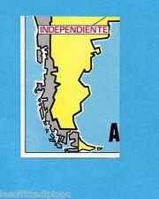 FOOTBALL CLUBS-PANINI 1975-Figurina n.12- ARGENTINA - CARTINA-Rec