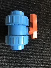 COMER 3/4 BSP Union doppia valvola a sfera PVC D.25 Dn20