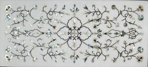 "48"" x 24"" table Top marquetry pietra dura inlay handmade art decor"