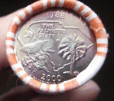 State Quarter S.Carolina 2000-P new bank roll cond.I ship to USA ONLY.FREE SHIP