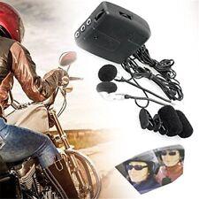 Helmet Wired Walkie Talkie Motorcycle Front Rear Seat Headset Intercom Headphone