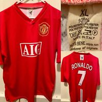 Manchester United AIG Cristiano Ronaldo Soccer Jersey Men's XL Made In Italy