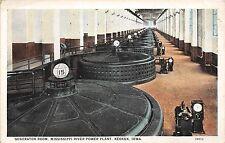 Iowa postcard Keokuk, Generator Room, Mississippi River Power Plant
