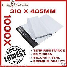 1000 PLASTIC POLY COURIER BAG MAILER MAILING SATCHEL POST BAGS PLASTIC 310X405MM