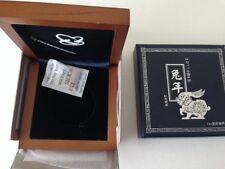 China 2011 10 Yuan 1 oz Silver Proof Year of Rabbit Box (no coin)