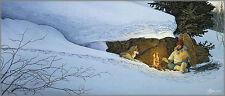 "*Scott Kennedy ""SNOWSHOES"" Alaska-Trapper-Hiking-Sled Dog-Camping-Rabbit-Art*"