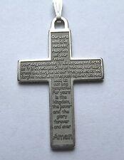 Argento Sterling Signori Preghiera Croce pendente a