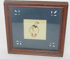 JEAN HENRY DUCK WITH A BLUE BOW TIE EARLY AMERICAN FOLK THEOREM PAINTING